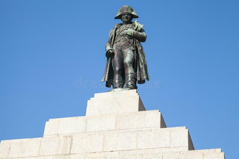 Statue of Napoleon Bonaparte, Ajaccio, Corsica royalty free stock image