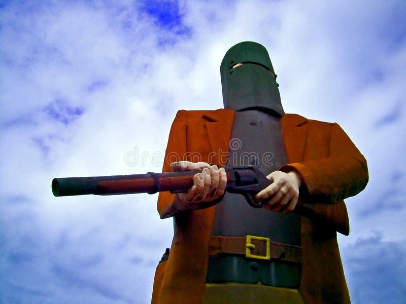 Download Statue Ned Kelly stock image. Image of kelly, shoot, robber - 102555
