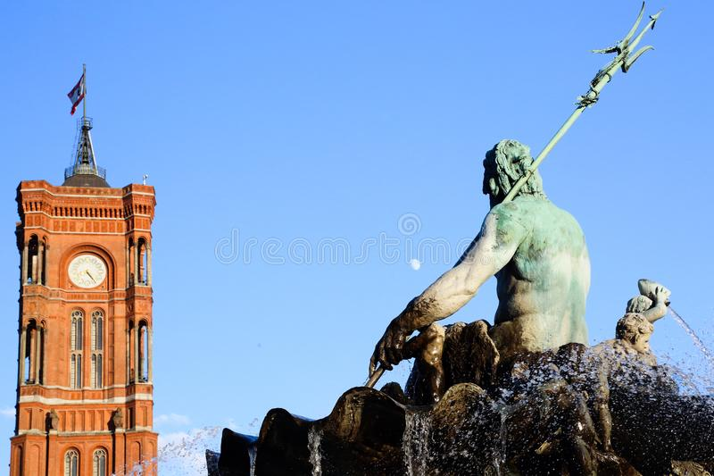 Statue of Neptune royalty free stock images