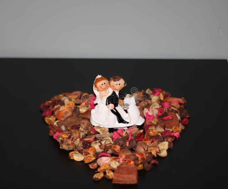Statue of Married couple. stock photos