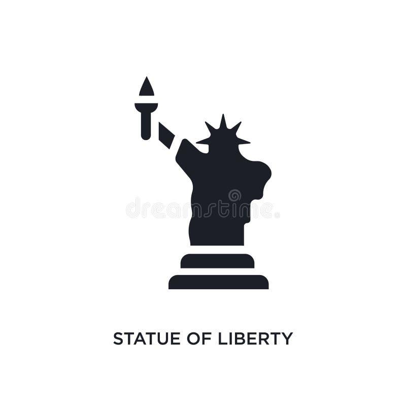 statue noire d'icône d'isolement de vecteur de liberté illustration simple d'?l?ment des ic?nes de vecteur de concept des Etats-U illustration libre de droits