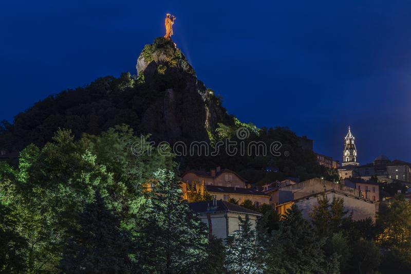 Dame de France - Le Puy-en-Velay - France royalty free stock photo
