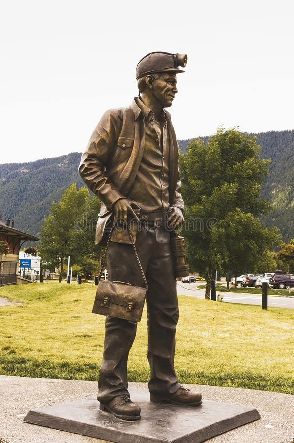 Free Statue Of A Coal Miner Stock Photos - 114241563