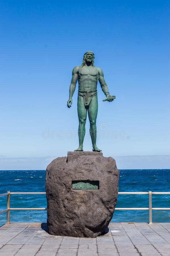 Free Statue Of An Ancient Canary Islands Native Guanche Stock Photo - 115520670