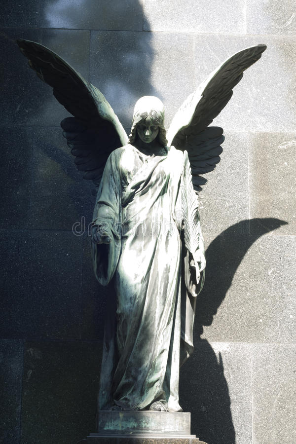 Free Statue Of Ancient Angel On Cemetery Royalty Free Stock Photos - 26386888
