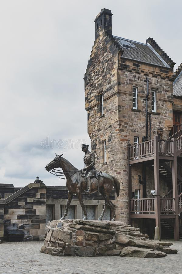 Free Statue Of Field Marshal Earl Haig Situated Outside The National War Museum At Hospital Square In Edinburgh Castle, Scotland, UK Royalty Free Stock Images - 121200499