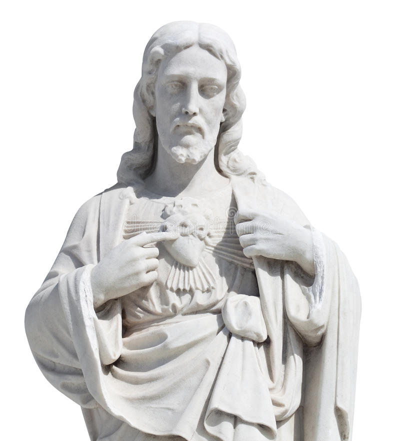 Free Statue Of Jesus Christ Isolated On White Royalty Free Stock Photography - 19256307