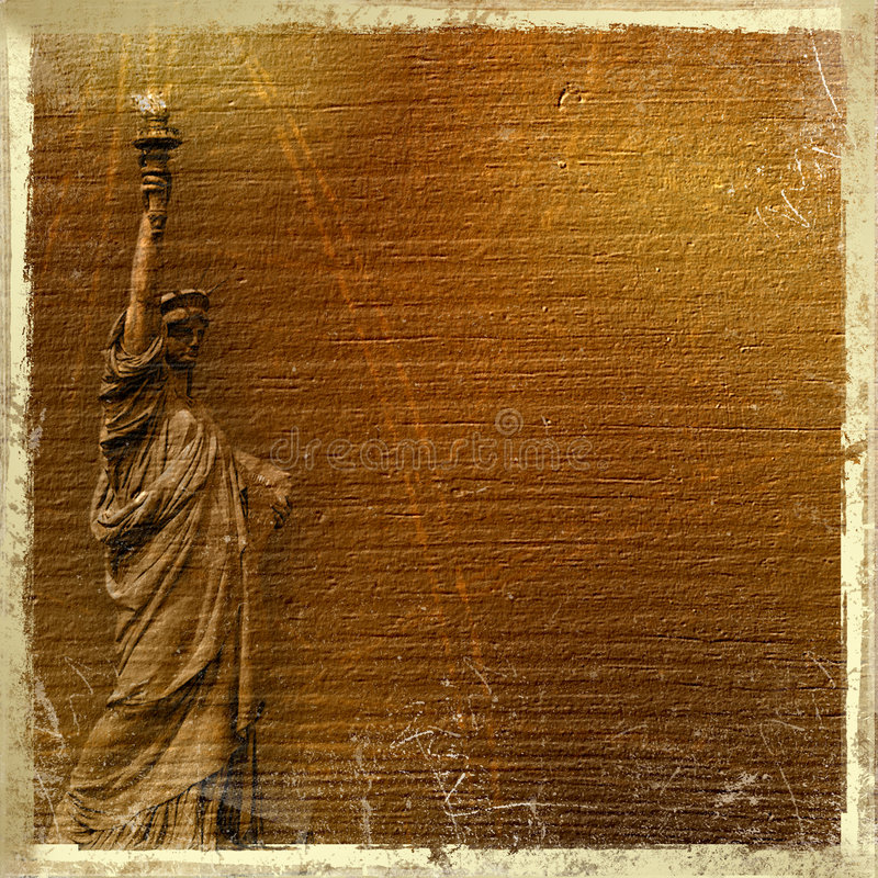 Free Statue Of Liberty In The Abstract Background Stock Photos - 5386063