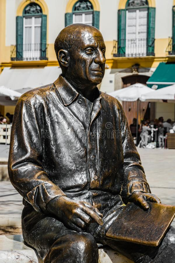 Free Statue Of Pablo Picasso In Malaga, Spain Stock Photography - 127747212