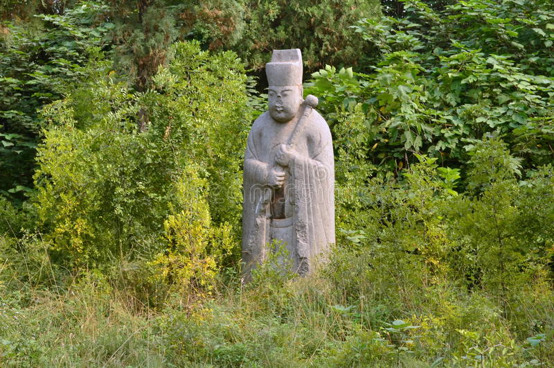 Ancient Stone Statue of Official, Song Dynasty Tombs, China