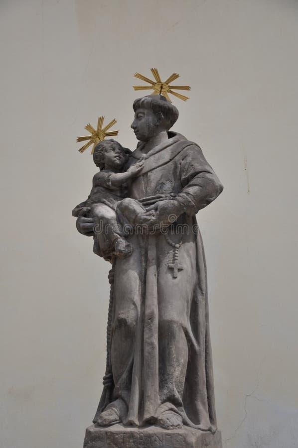 Statue Czech Republic. Old history statue en the praga Czech Republic royalty free stock image