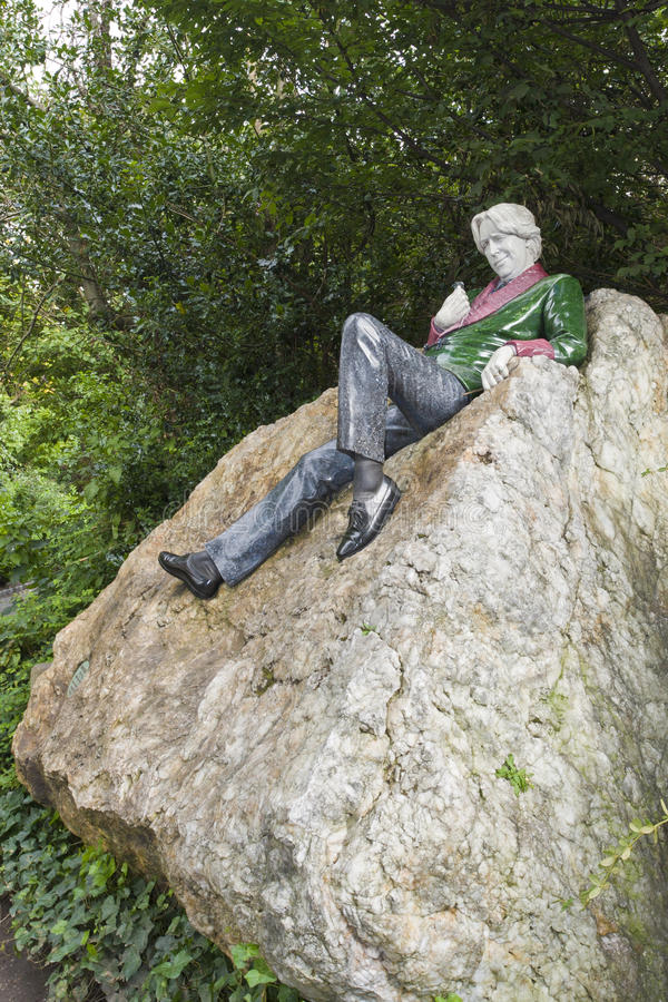 Statue of Oscar Wilde in Dublin. stock images
