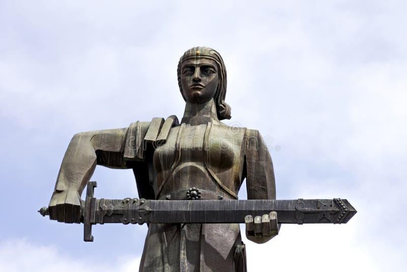 Statue ou Mayr de l'Arm?nie de m?re hayastan image stock