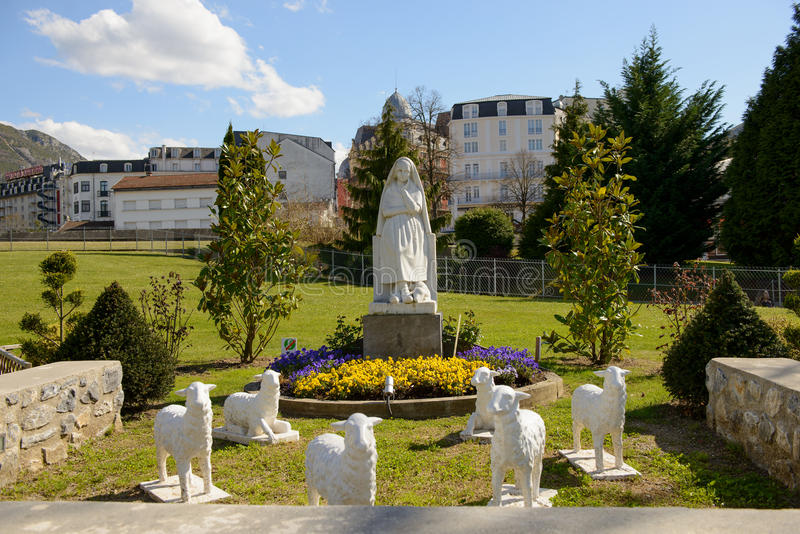 Statue of Our Lady of Lourdes. A statue of Our Lady of Lourdes royalty free stock image