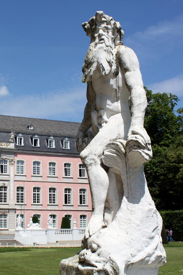 Statue for the palace of the Elector. In Trier in Germany stock image