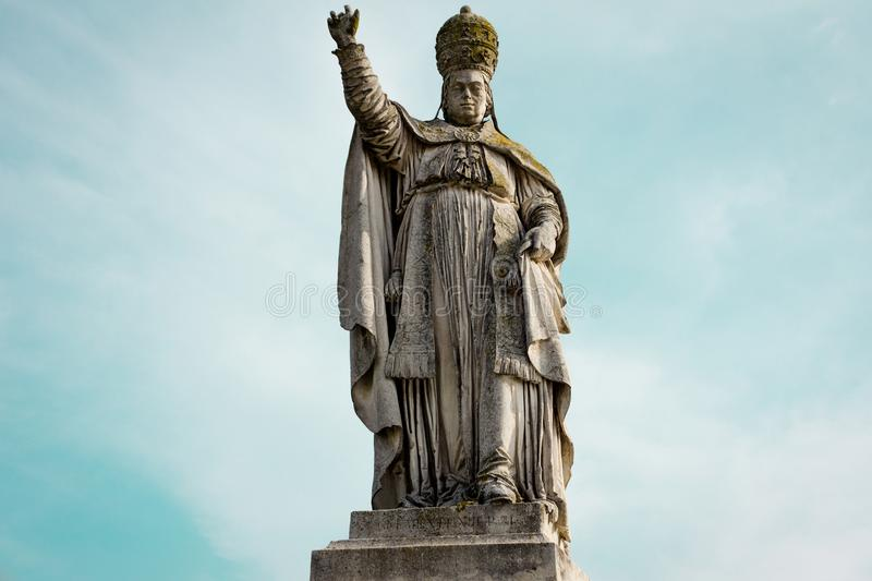 Statue Papa Clemente XIII royalty free stock images