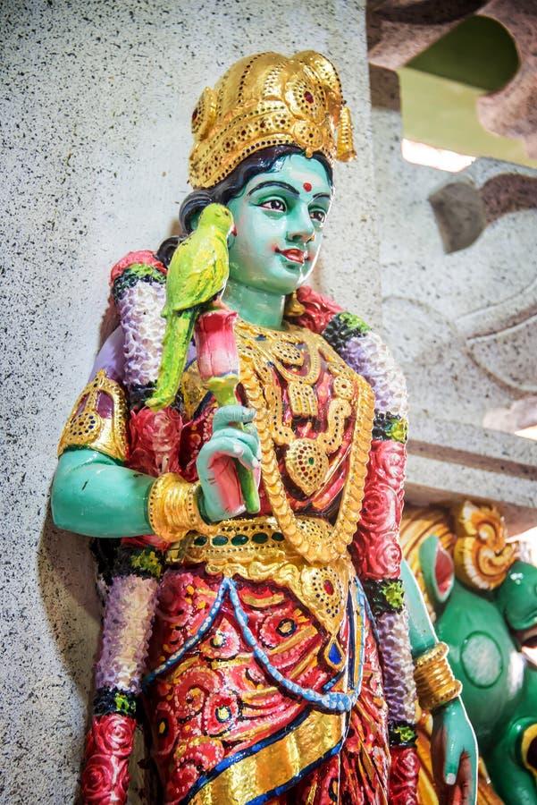 Statue of Parvati in Sri Veeramakaliamman Temple, Singapore. Statue of Parvati in Sri Veeramakaliamman Temple in Little India, Singapore royalty free stock photography