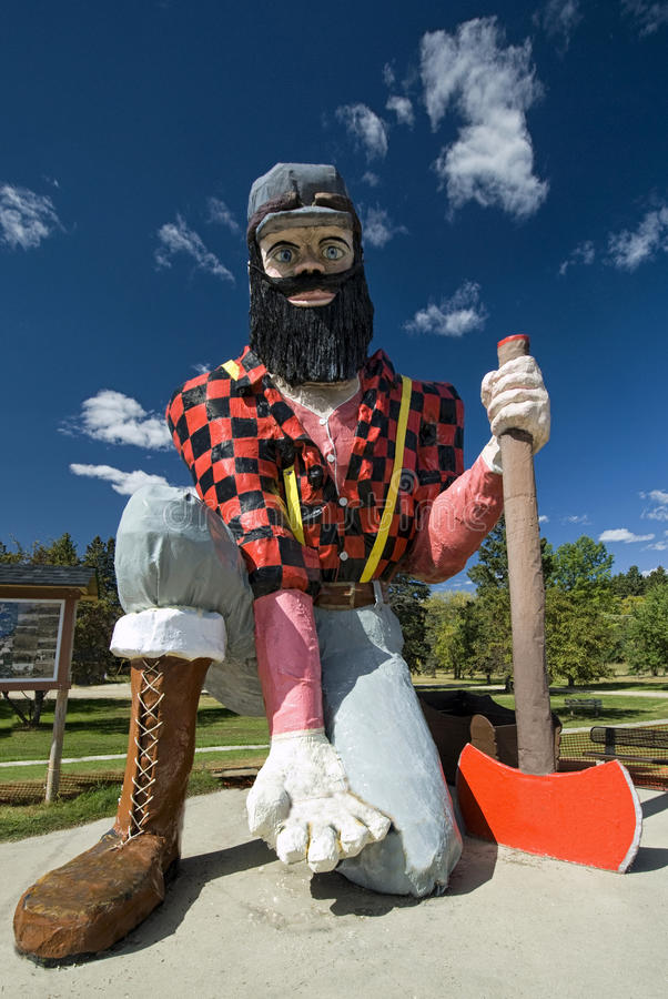 Statue of Paul Bunyan the giant lumberjack. Akeley, Minnesota, USA, September 13. Statue of Paul Bunyan the giant lumberjack on September 13 2012, in Akeley stock image