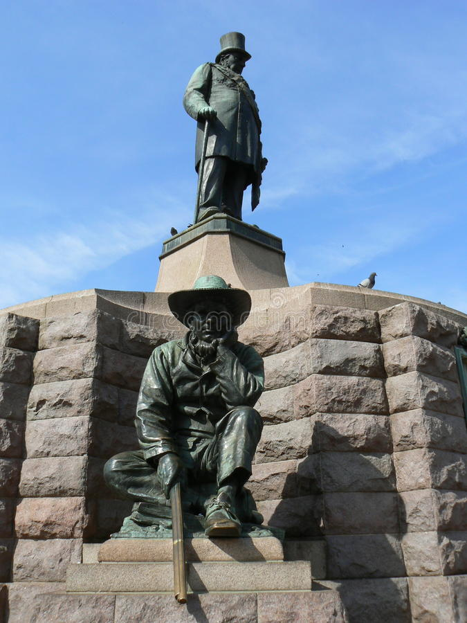 STATUE PAUL KRUGER MONUMENT, PRETORIA, SOUTH AFRICA. The statue of Paul Kruger is a bronze sculpture of Paul Kruger, the Boer political and military leader and royalty free stock images
