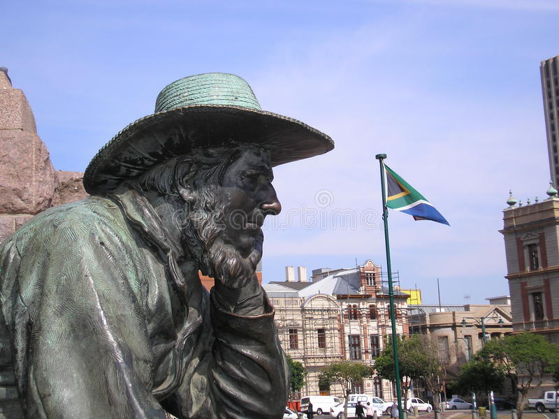 STATUE PAUL KRUGER MONUMENT, PRETORIA, SOUTH AFRICA. The statue of Paul Kruger is a bronze sculpture of Paul Kruger, the Boer political and military leader and royalty free stock photos