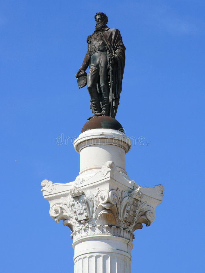 Statue of Pedro IV royalty free stock photography