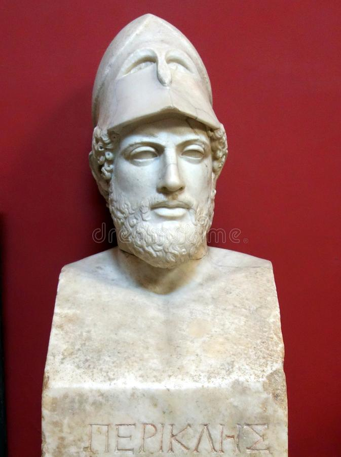 Statue of Pericles, Vatican Museum. Marble statue of Pericles, in the Vatican Museum, Rome, Italy royalty free stock images