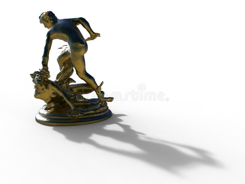 Statue Perseus und der Medusa lizenzfreie abbildung