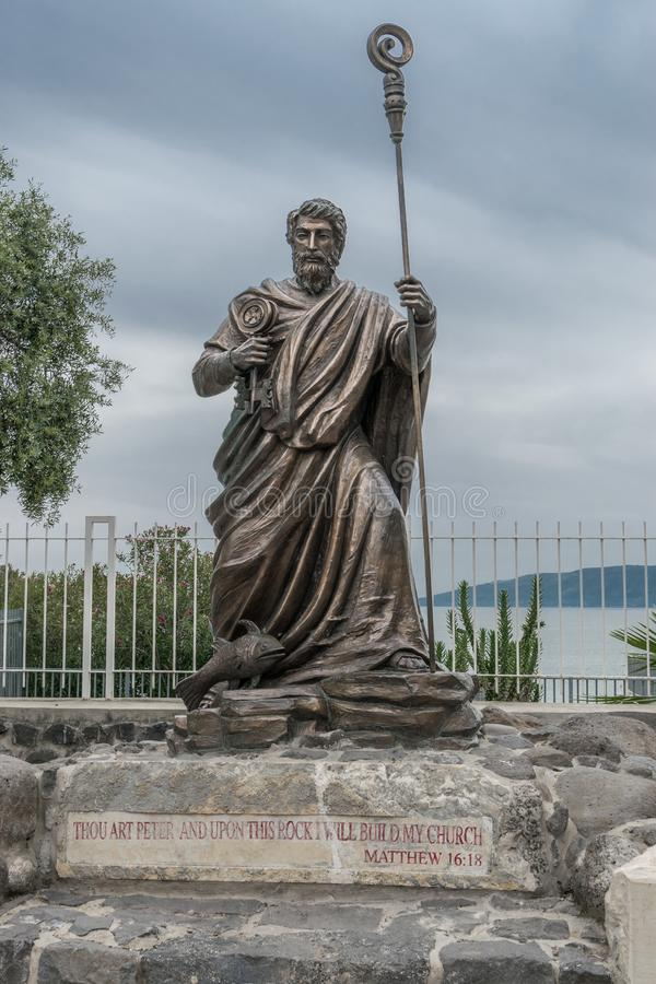 Peter in Capernaum royalty free stock photo