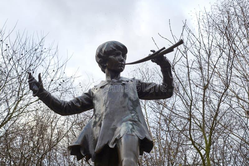 Statue of Peter Pan stock photos