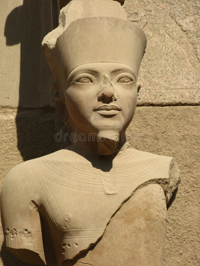 Download Statue of a Pharaoh stock photo. Image of goddess, luxor - 4000544