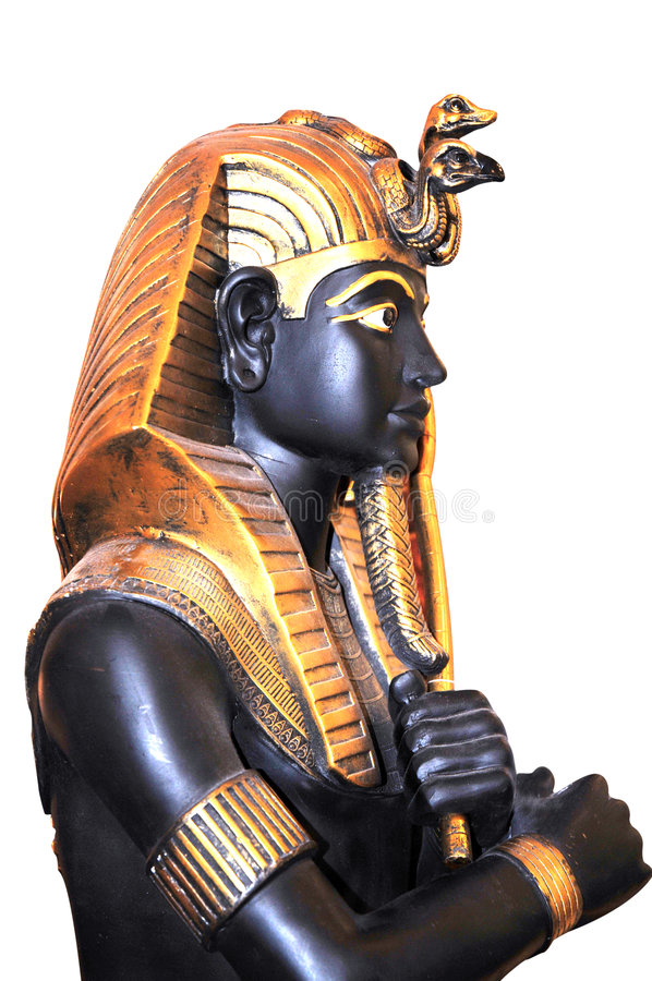 Statue of Pharaoh (Firaun). A black statue of pharaoh - ancient Egyptian kings of all periods royalty free stock photos