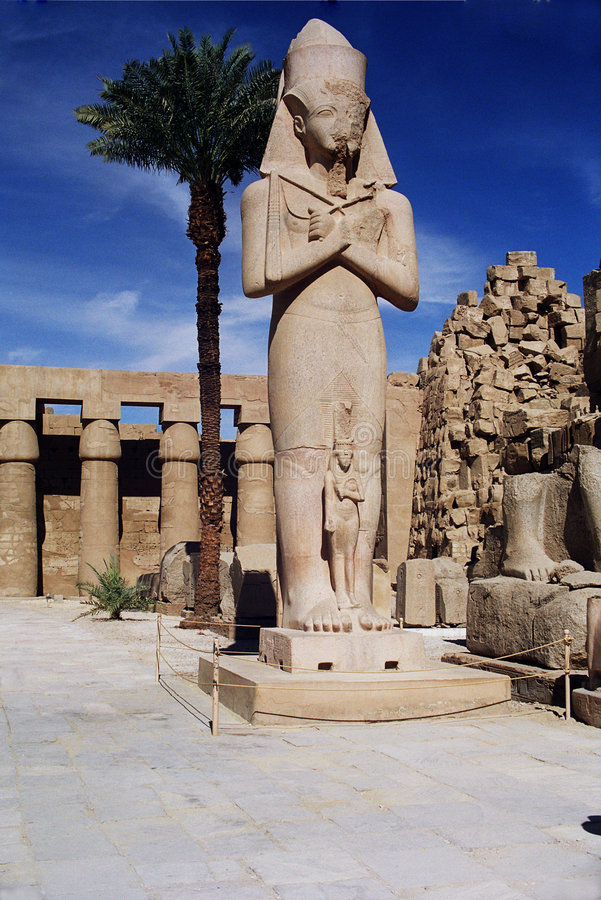 Statue of Pharaoh Ramses II stock photography