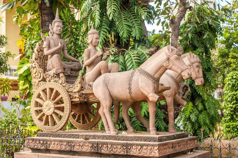 Download Statue in Phnom Penh stock image. Image of hiking, traveling - 31738885