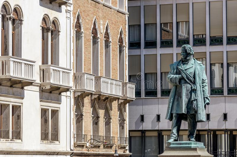 Statue in Piazza Manin, Venice, Italy. Statue of Daniele Manin in Piazza Manin, Venice, Italy, Europe stock image