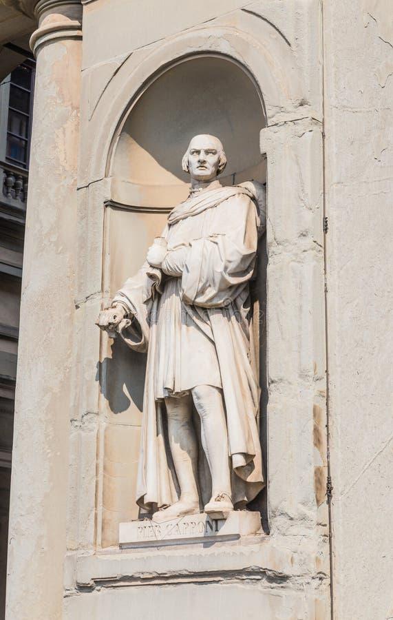 Statue of Piero Capponi, Uffizi Gallery Museum. Piazzale Degli Uffizi, Florence, Tuscany, Italy royalty free stock images