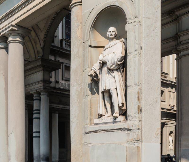 Statue of Piero Capponi, Uffizi Gallery Museum. Tuscany, Italy. Statue of Piero Capponi, Uffizi Gallery Museum, Piazzale Degli Uffizi, Florence, Tuscany, Italy stock images