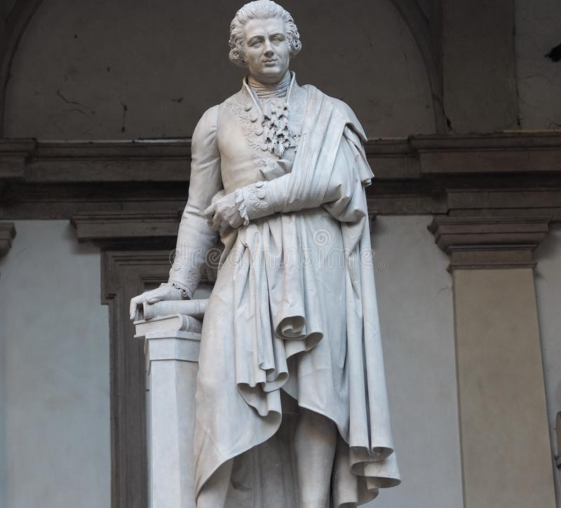 Statue of Pietro Verri royalty free stock images