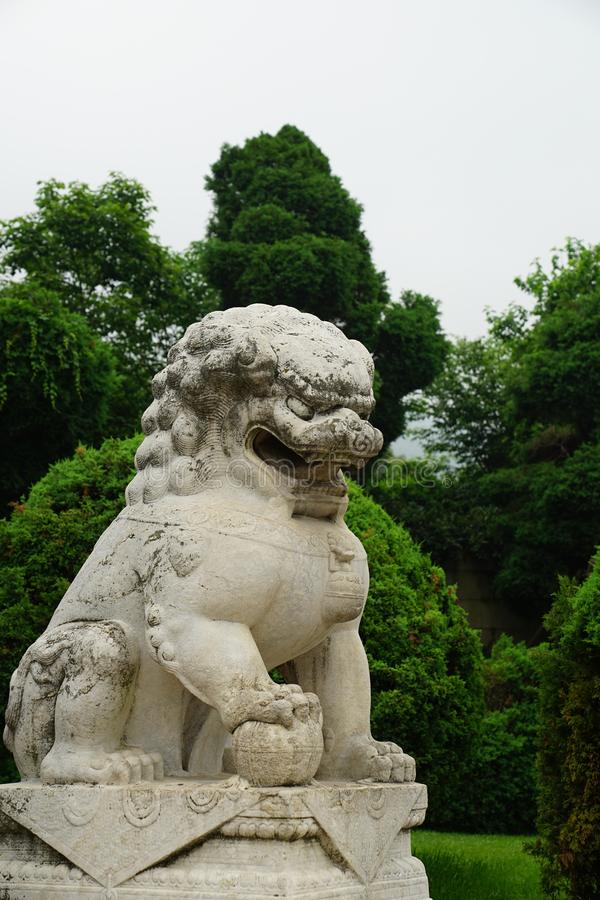 Statue of Pixiu , Chinese creature in mythology stock image