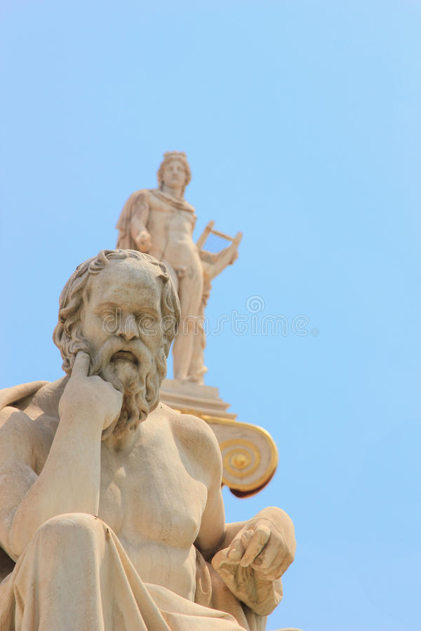 Statue of Plato from the Academy of Athens stock images