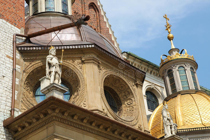 Wawel Cathedral in Krakow stock images