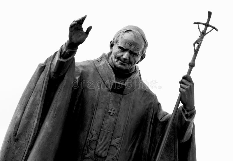 Statue of pope John Paul II stock photos