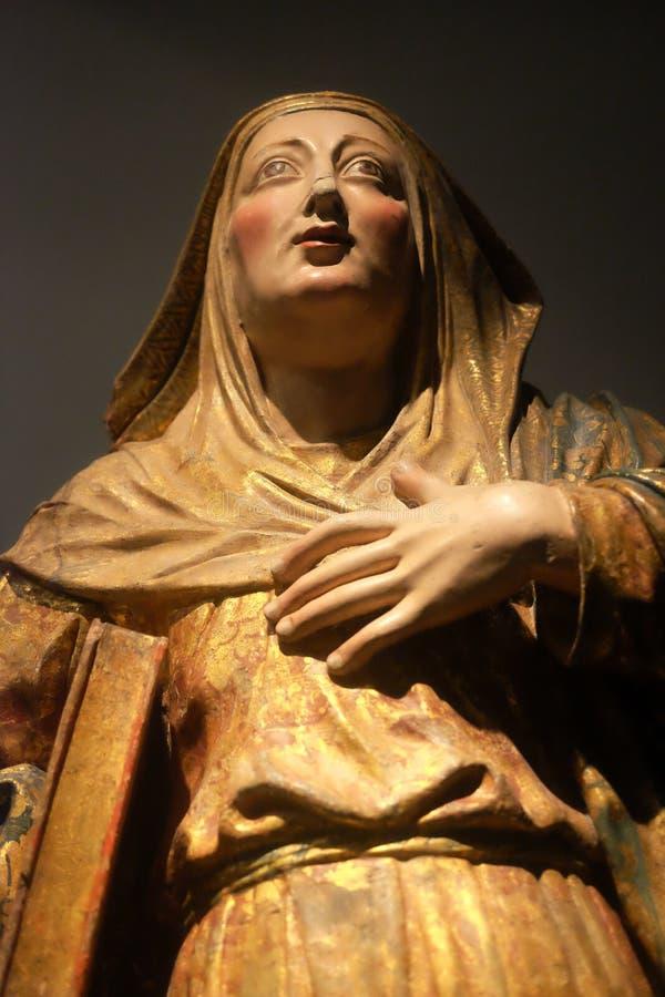 Statue portugaise - foi et art du Portugal photo stock