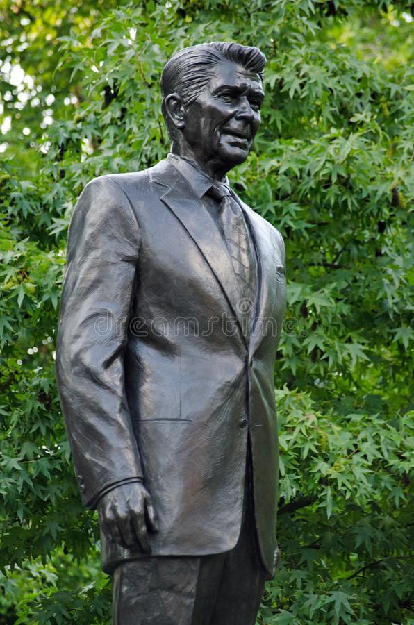 Statue Präsidenten Ronald Reagan, Grosvenor-Quadrat, London lizenzfreies stockfoto