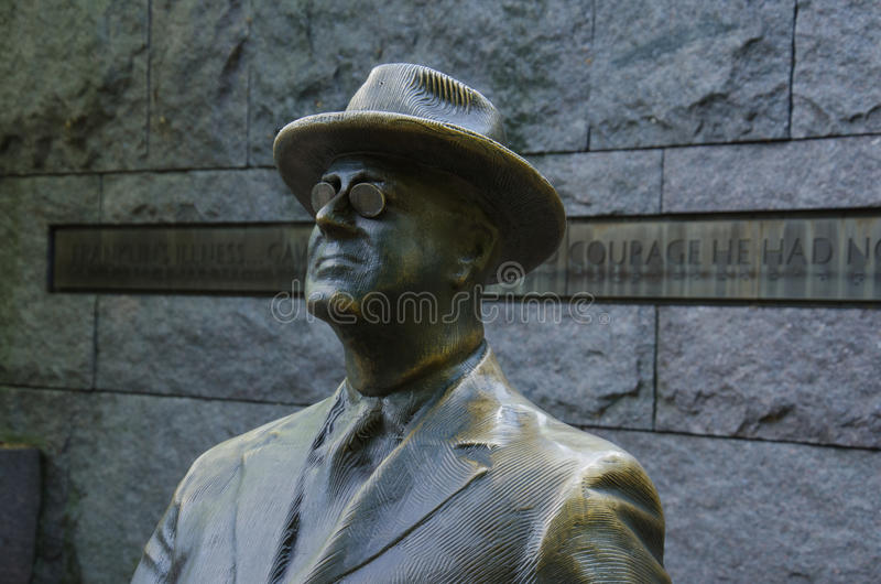 Statue of President Roosevelt - F.D.R. Memorial royalty free stock photos