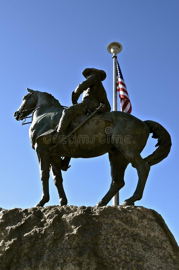 Statue of President Theodore Roosevelt royalty free stock photo