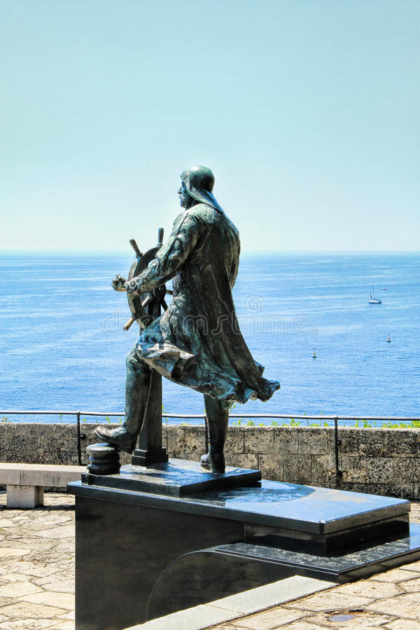 Statue of Prince Albert I of Monaco royalty free stock photography