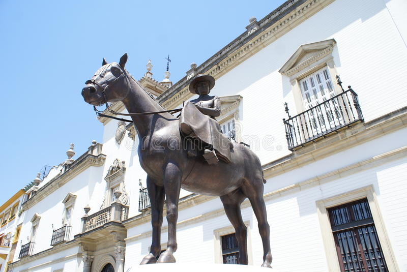 Statue of Princess Maria Mercedes of Bourbon in Seville, Spain. Statue of Princess Maria Mercedes of Bourbon-Two Sicilies, Infanta of Spain, Countess of stock images
