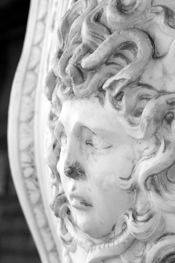 Statue principale de méduse photos stock