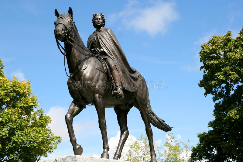Statue of Queen Elizabeth II stock photography