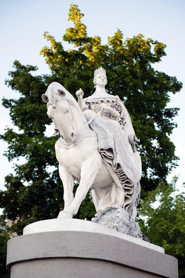 Statue Of Queen Maria Theresa In Bratislava Stock Photos